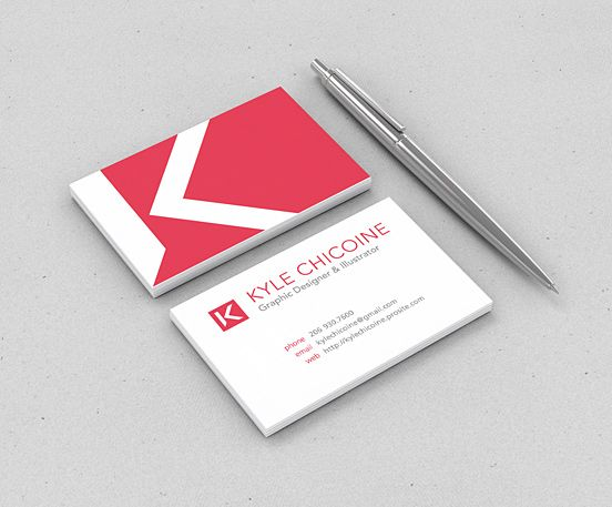 Personal Business Card Cool If There Wasnt Centered Type