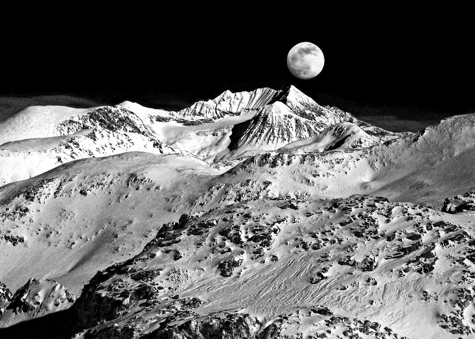 Mountain Moonscape b&w | by david schweitzer