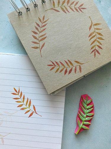 leaf #eraserstamp