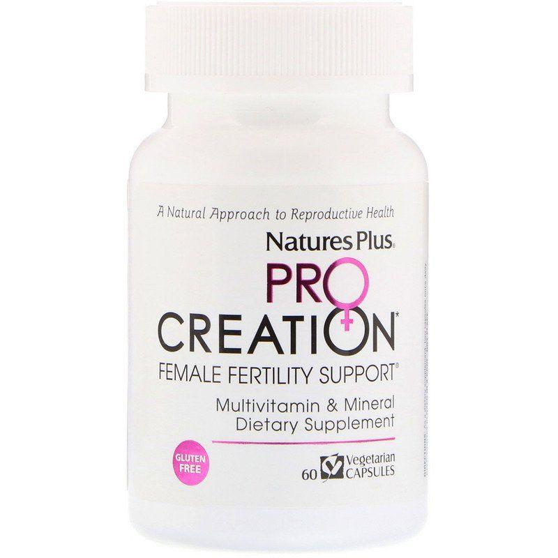 Procreation تعزيز الخصوبة عند النساء 60 كبسولة نباتية Iherb Female Fertility Multivitamin Mineral Fertility