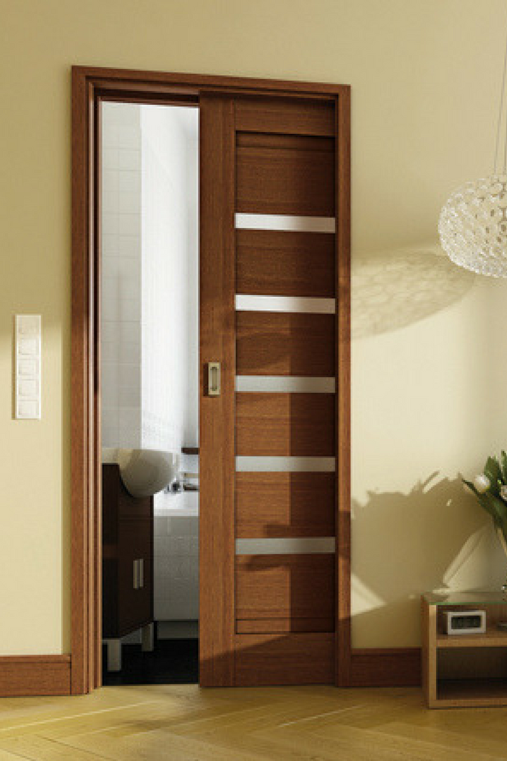 Modernistyczne System przesuwny chowany w ścianę. Drzwi przesuwne. | Drzwi PI74