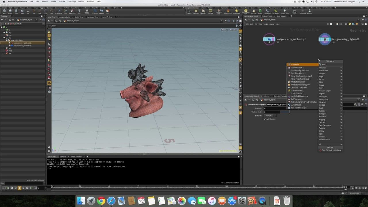 Houdini Tutorial - 3D Object Morphing using Open VDB Morph and SOP