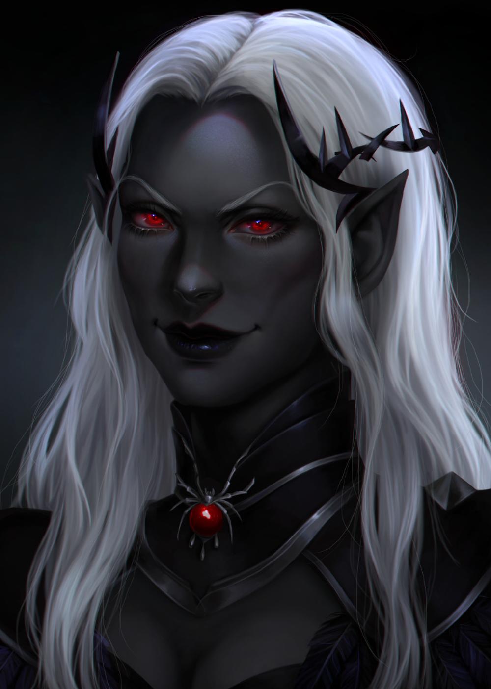 Dark Elf Female Art