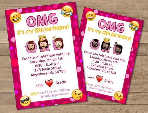 Emoji birthday invites jcmanagement emoji birthday invites filmwisefo Image collections