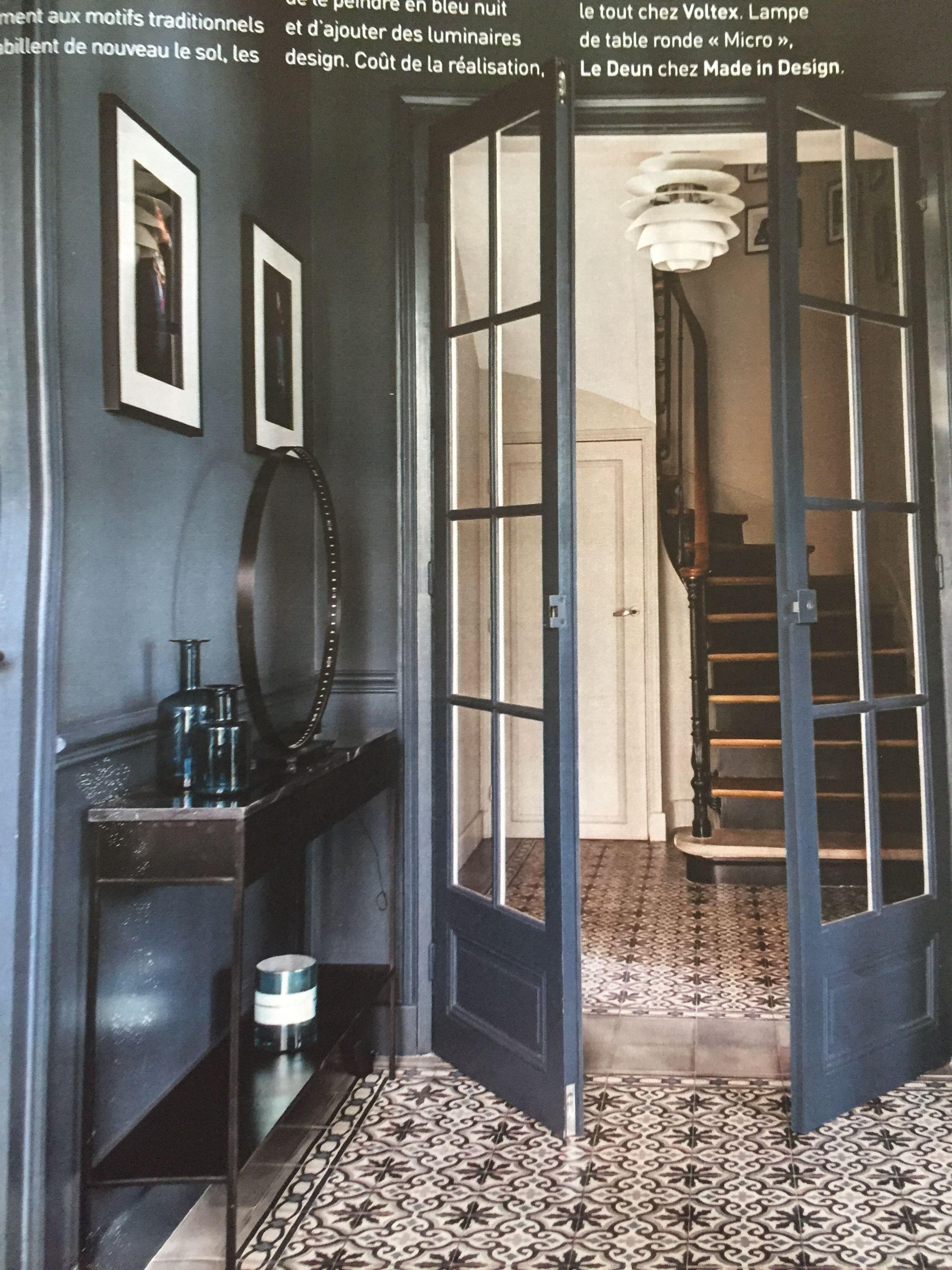 Flamant Midnight Blue Victorian Decor Framed Bathroom Mirror Home