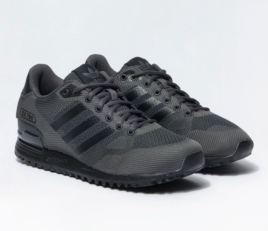 timeless design 09411 7c514 Adidas sneakers zx 750 wv s80125 nero grigio scarpa uomo ginnastica shoes  men ...