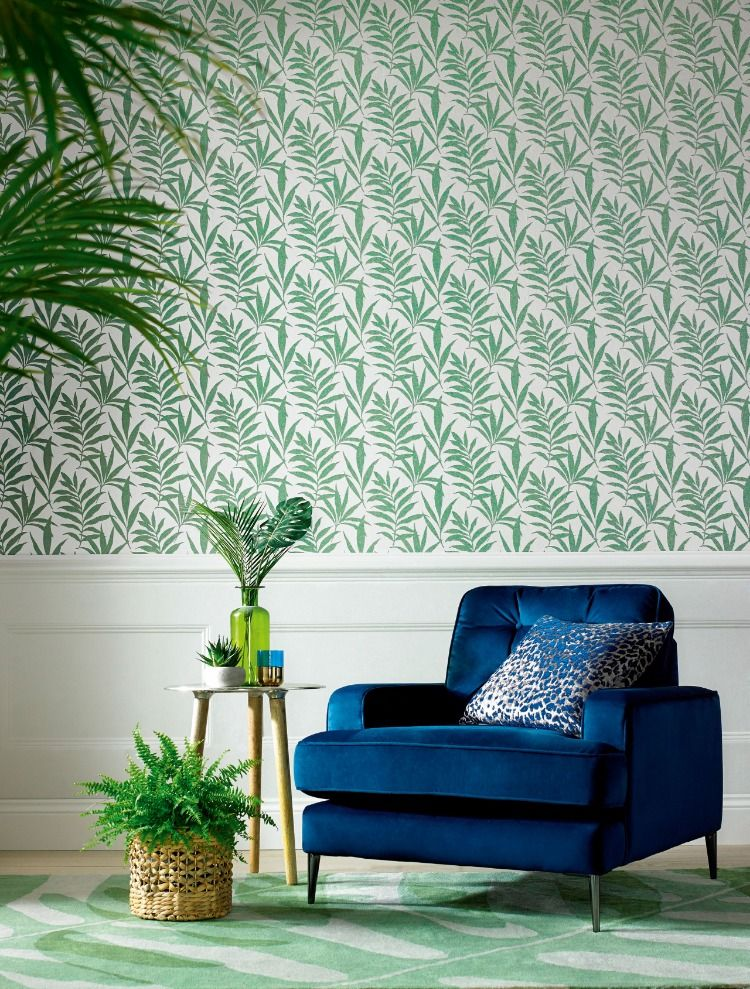 Botanical Wallpaper Ideas Modern Florals In 2019 Green