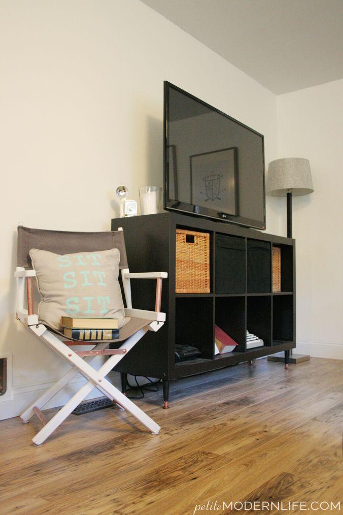 mid century expedit hack ikea hacks pinterest mid century ikea hack and tv wall mount. Black Bedroom Furniture Sets. Home Design Ideas