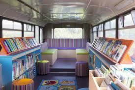 Image result for library school bus | Mobile library, Library, Lending  library