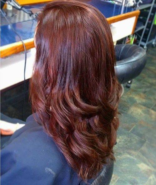 Couleur de cheveux chocolat rouge