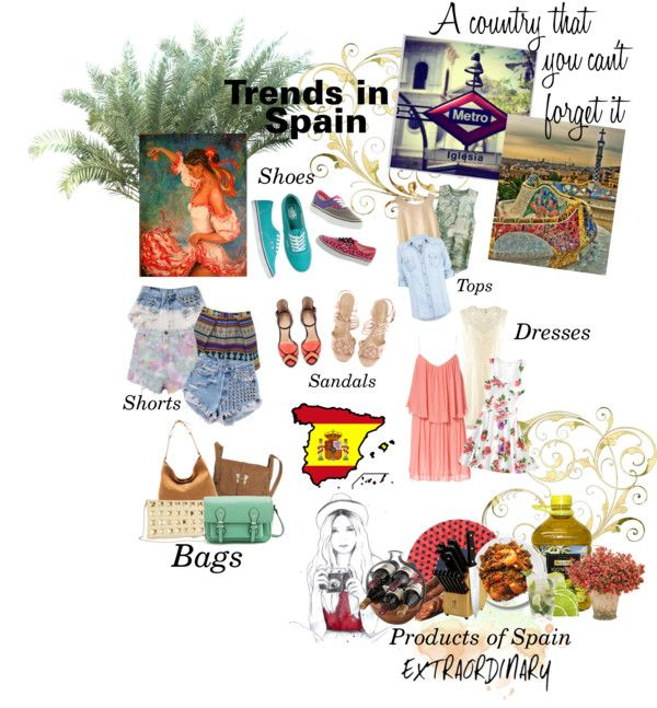 """""""Spain"""" by natural-cloe ❤ liked on Polyvore"""