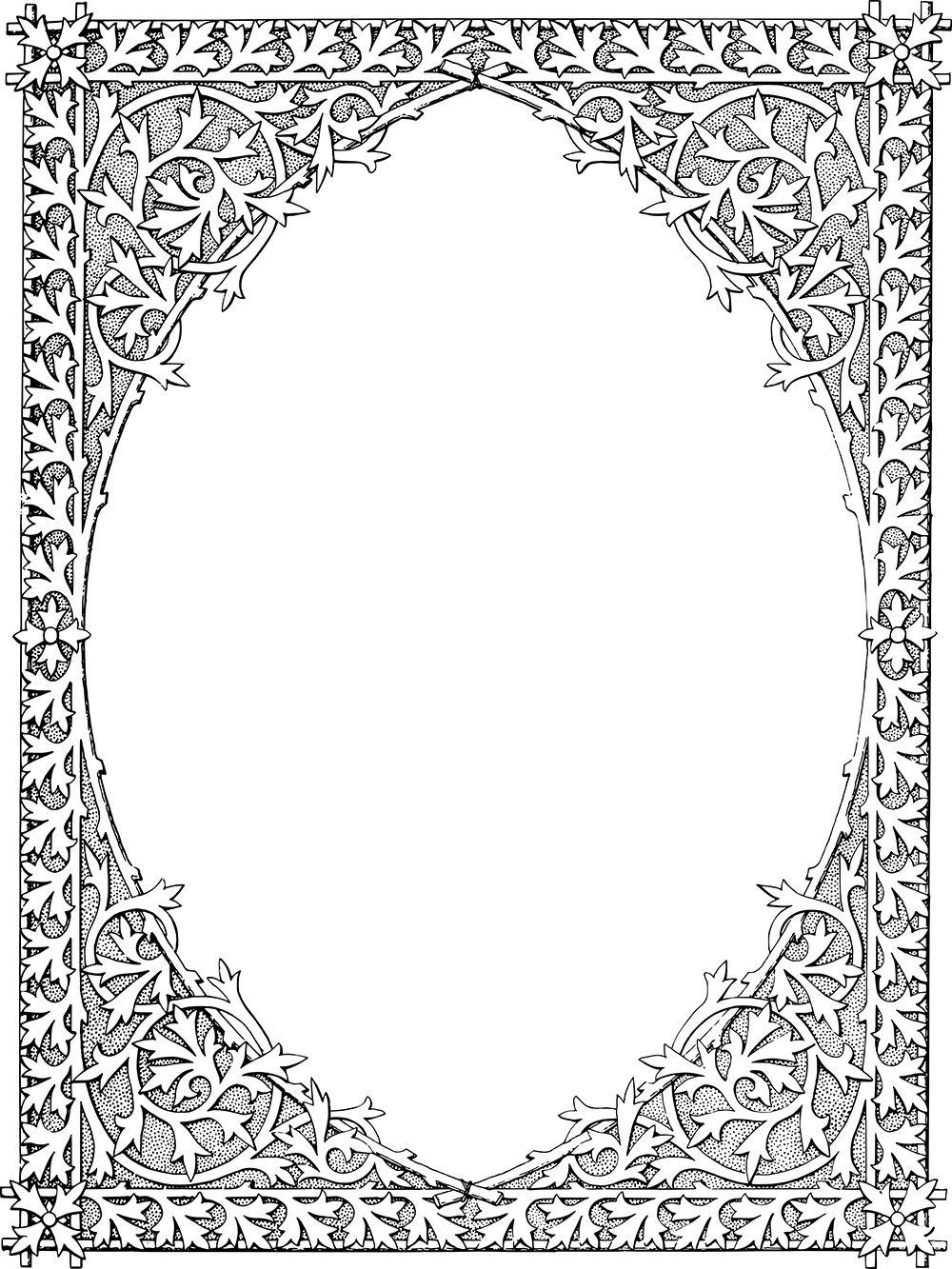 Magnificent Vintage Gothic Frame Border Vintage Gothic Gothic Pattern Ornaments Design