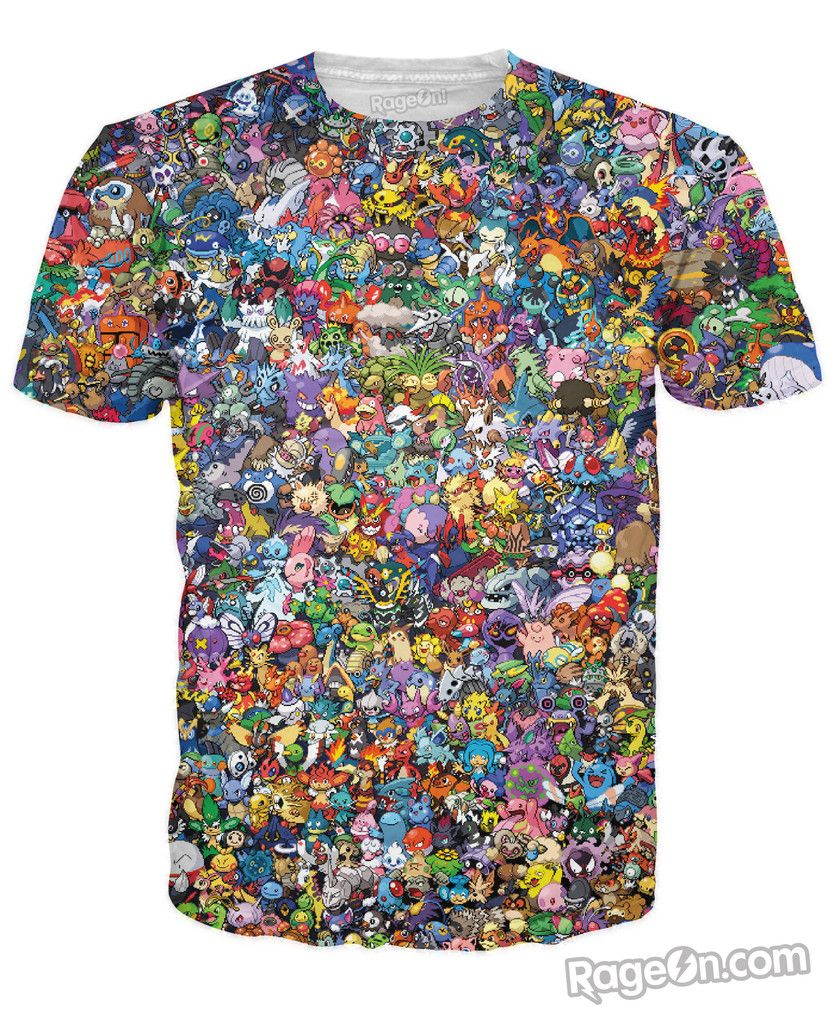 0d94fd254 Pokemon Collage T-Shirt | Pokémon | Pinterest | Nerdy shirts, Shirts ...
