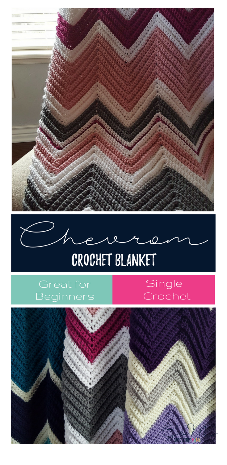 Chevron Crochet Blanket Pattern | Pinterest | Garn