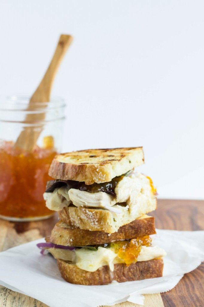 Grilled Turkey, Brie and Marmalade Sandwiches #NotJustADish