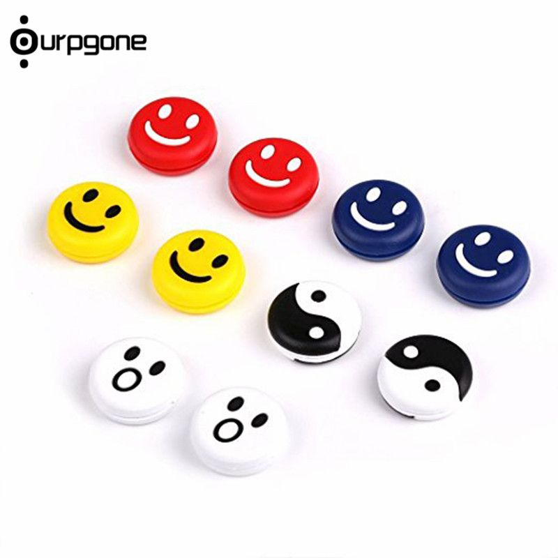 6pcs White Silicone Tennis Shock Absorber Racquet Vibration Dampeners