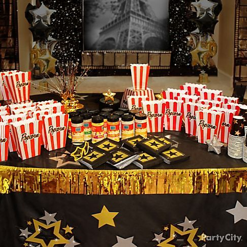 Star Studded Movie Inspired Food Drink And Decoration Ideas For Your Awards Party Hollywood Theme Or Night