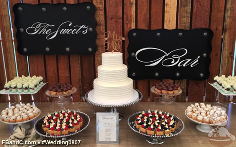 Design W 0807   Dessert Bar featuring Fresh Fruit Tartlets, Pistachio Mousse Shooter Cups, Mini Cupcakes, Boston Cream Puffs   Custom Quote