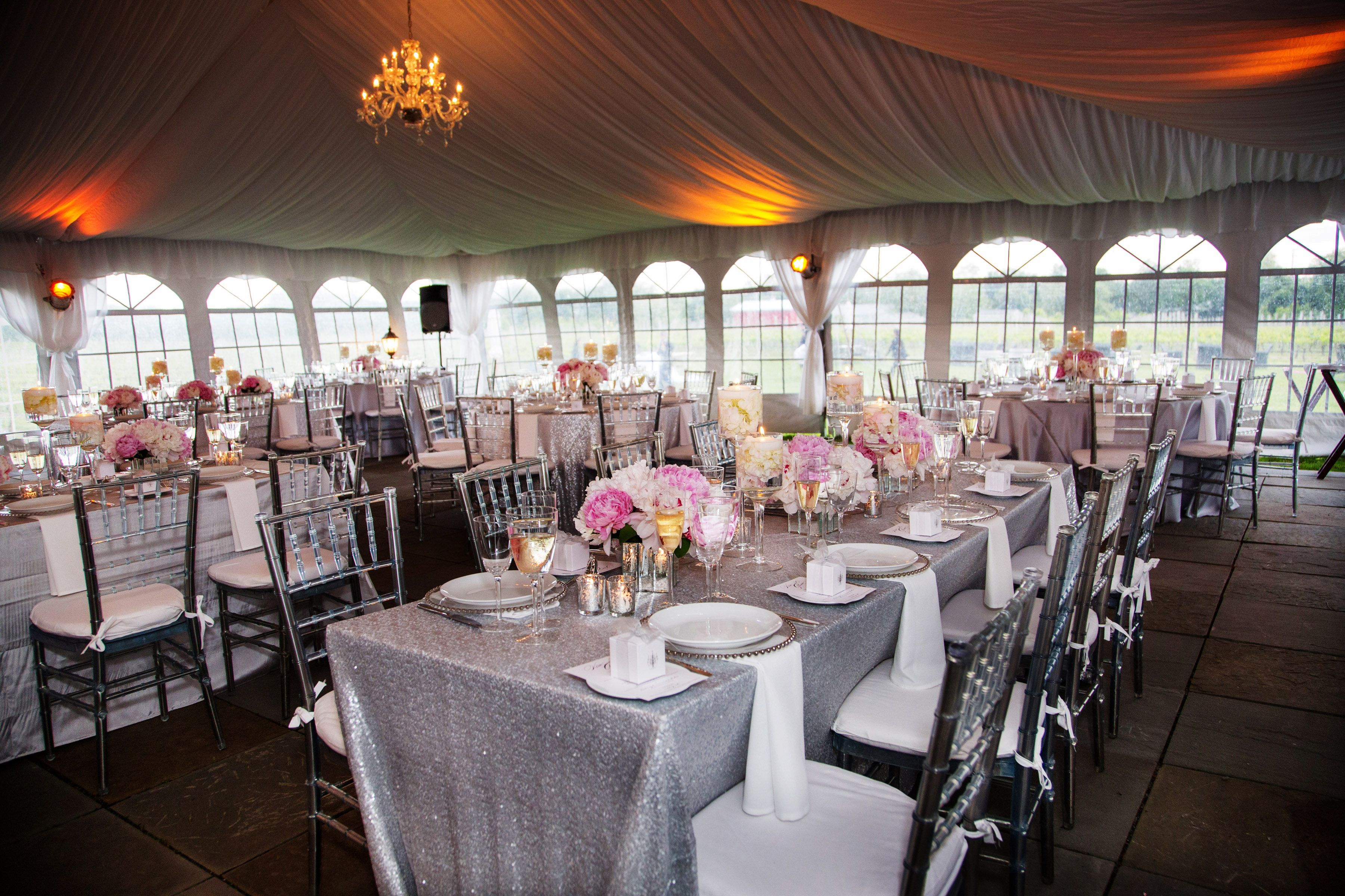 Sparkly Tent Wedding At Sparkling Pointe Vineyards North Fork Of Long Island