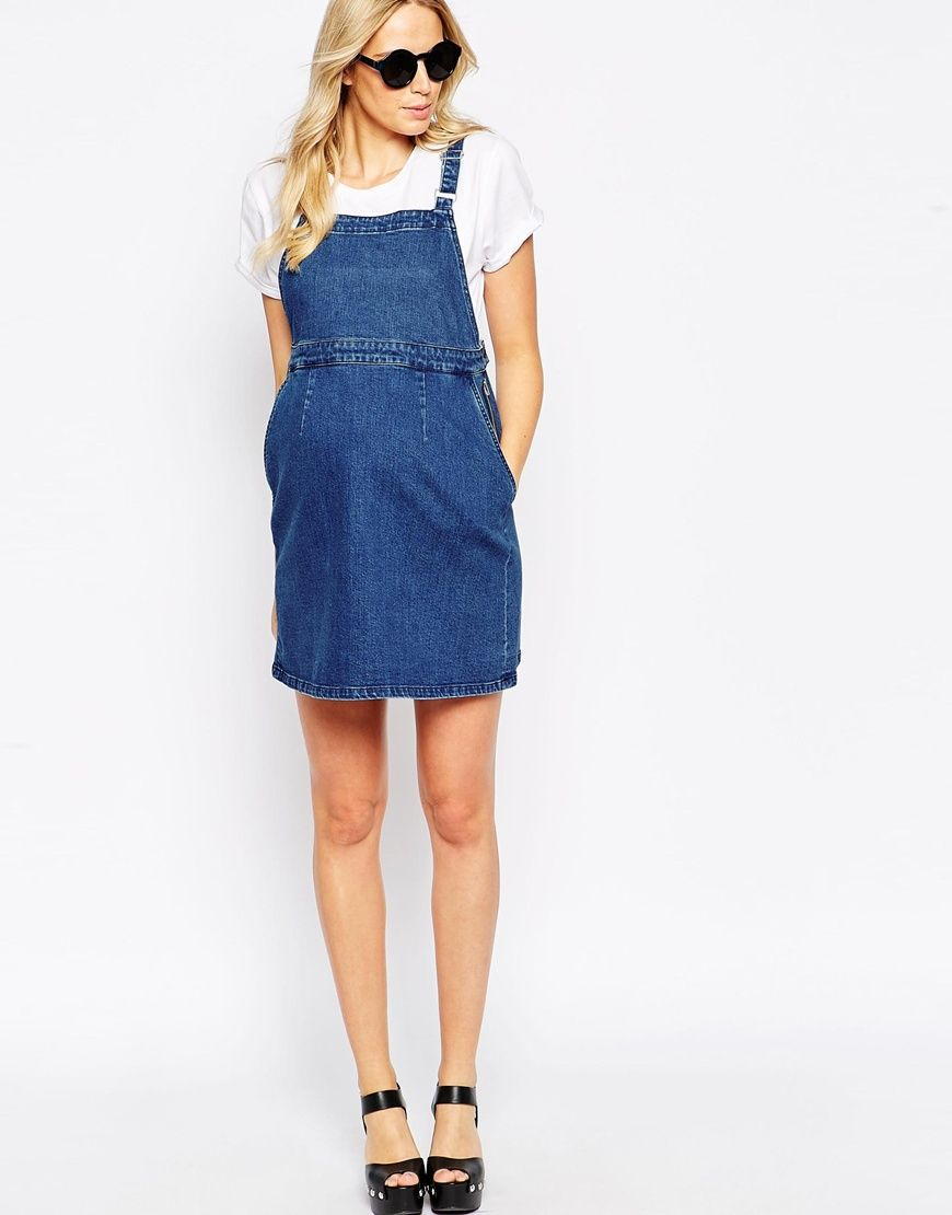 Image 4 of ASOS Maternity Denim Overall Dress | a pregnancy ...