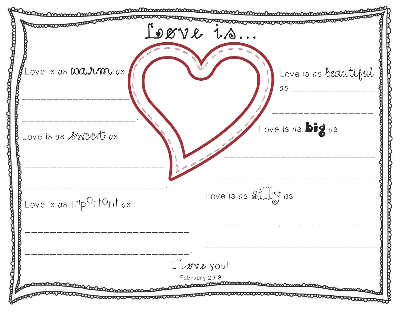 Live Love Laugh And Learn In 1st Grade What Is Love