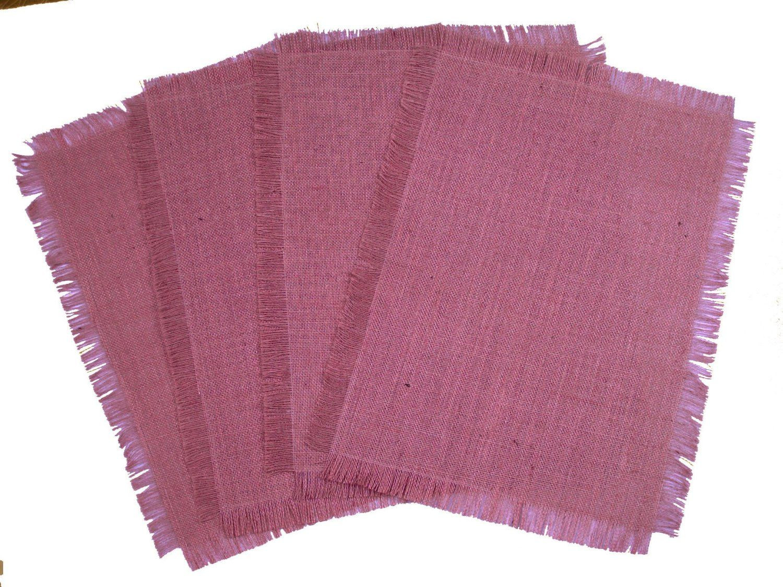 pink burlap placemats - Google Search