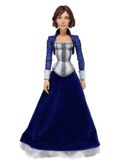"""Bioshock Elizabeth Figure - The third game in the series, BioShock Infinite boasts some really awesome character designs!    Elizabeth - recently freed from a life of captivity by Booker DeWitt, Elizabeth stands approximately 6.5"""" tall and features over 20 points of articulation, dressed in a real fabric shirt. $19.99"""