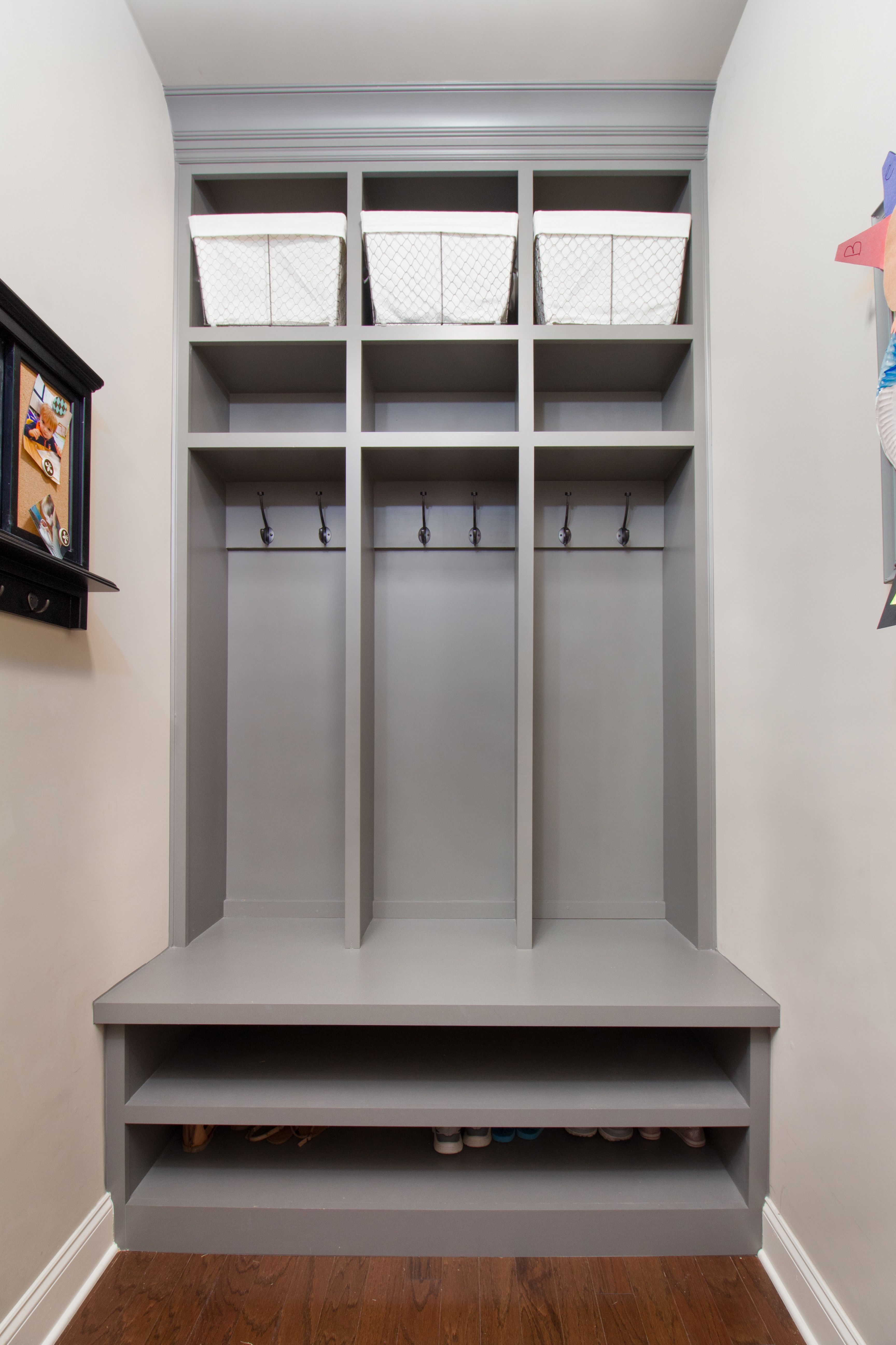 Built In Mudroom Custom Built Mudroom Shelving Ccff Bookcases And Mantels
