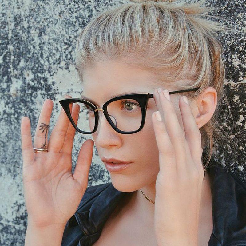 ROYAL GIRL Cat Eye Women Eyeglasses frames Brand Designer Glasses ...