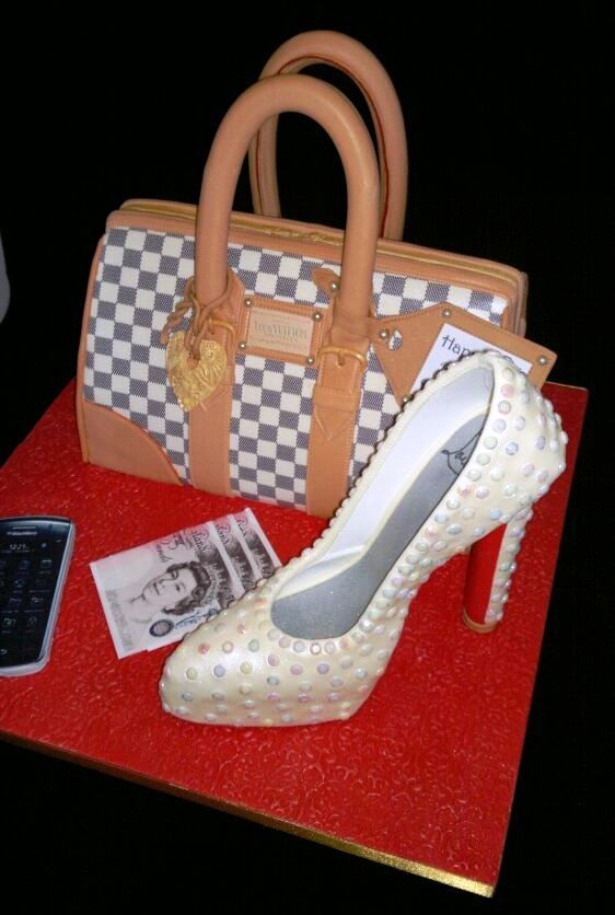 Louis Vuitton High Heel Heels Schuhe 3D Cake Topper Fondant