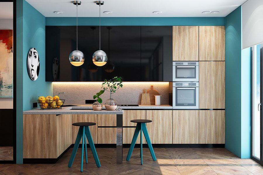 35 Idee per Colori di Pareti di Cucine Moderne | Idee ...