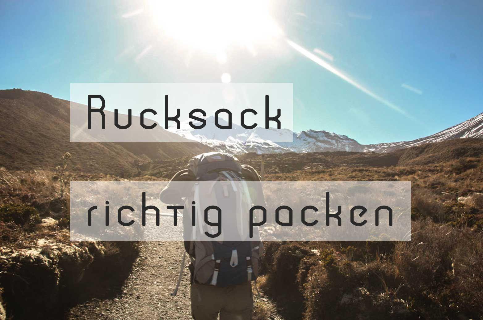 Den #Rucksack richtig packen: 6 ultimative Tipps ...