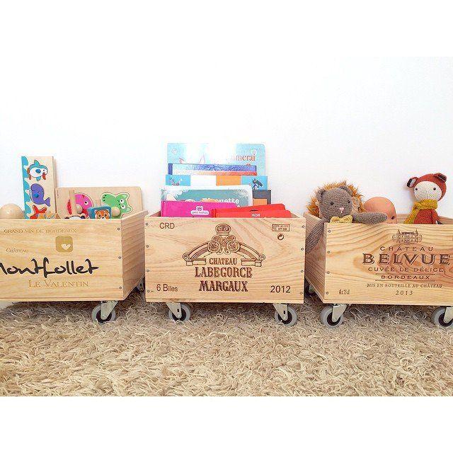 Des caisses de vin revisit es diy pinterest caisses - Caisse a roulette enfant ...