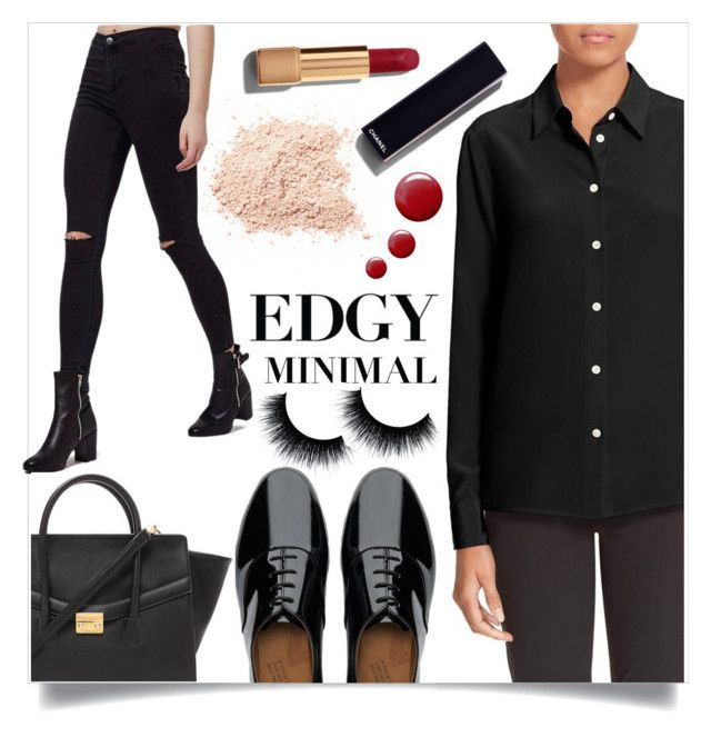 """""""Marian"""" by blackcatbadluck ❤ liked on Polyvore featuring mode, rag & bone, Topshop, FitFlop, Chanel, Forever 21, women's clothing, women, female et woman"""