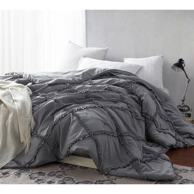 Photo of House of Hampton Huddleson Single Comforter Size: Twin, Color: Gray