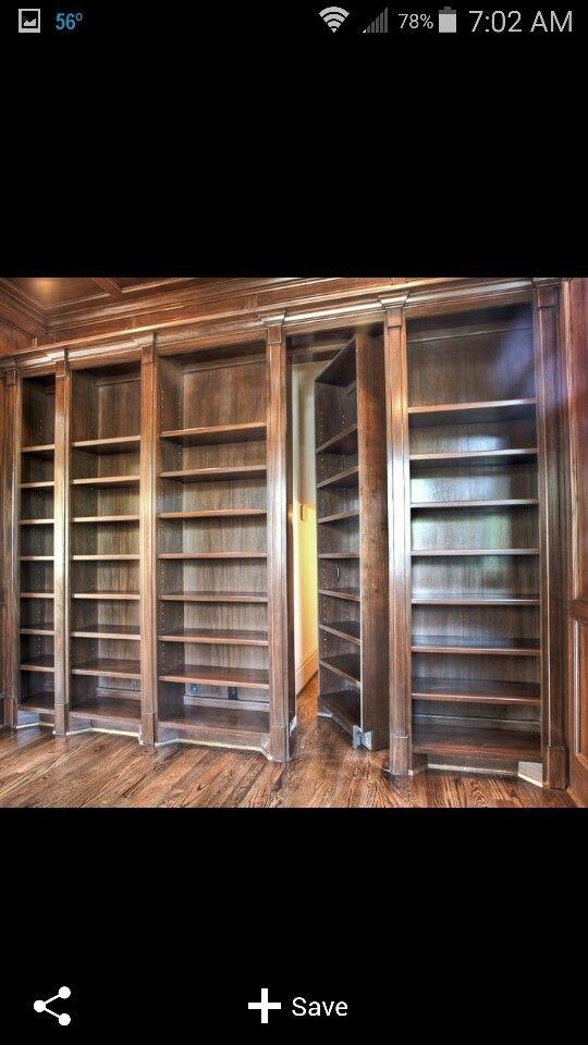 Secret library door & Secret library door | hidden room | Pinterest | Doors and Room