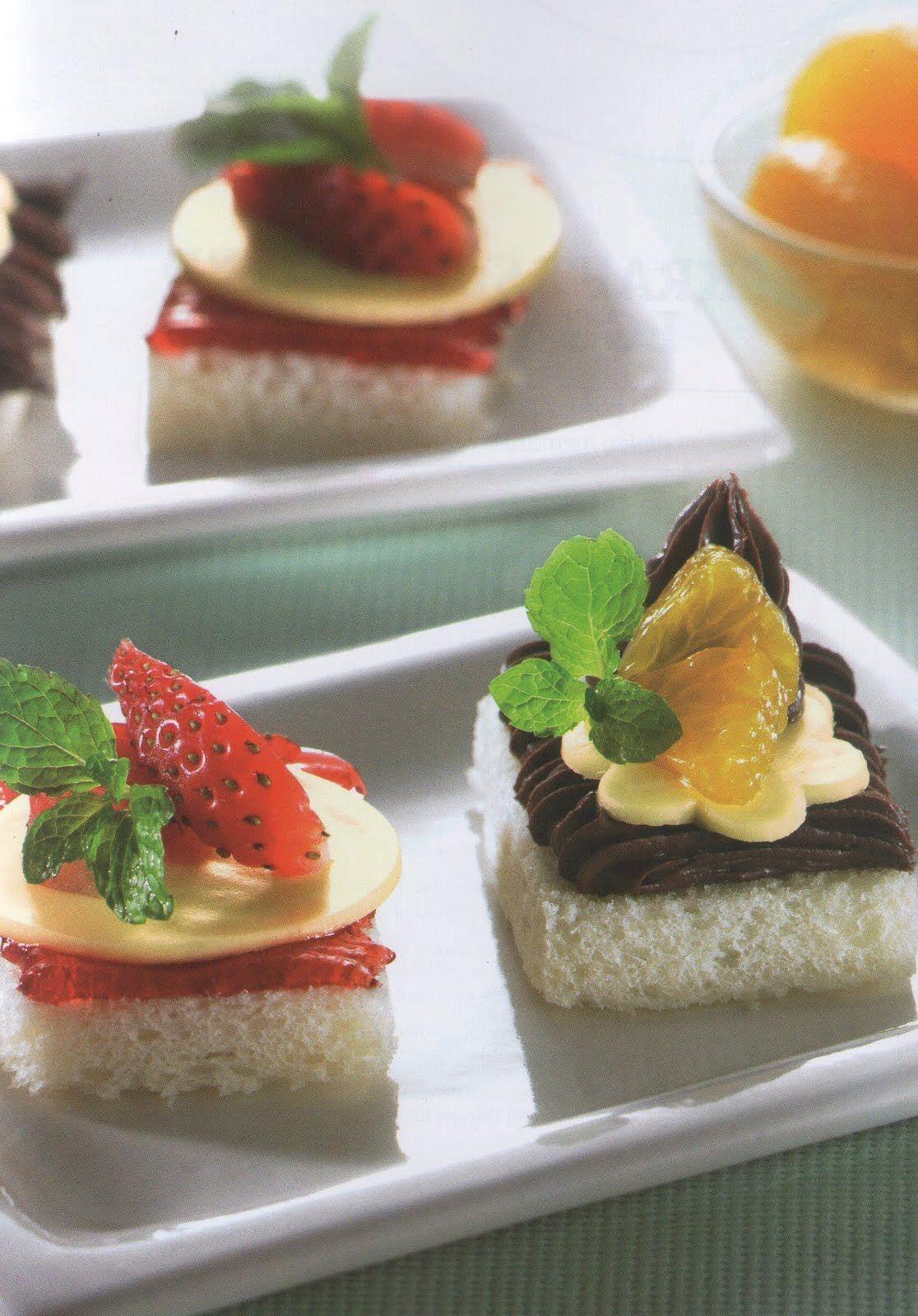 Roti Canape Topping Buah Di 2020 Resep Kue Hidangan Penutup Makanan