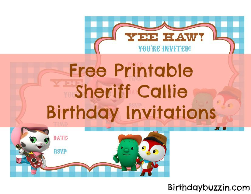 Sheriff Callie Birthday Invitations