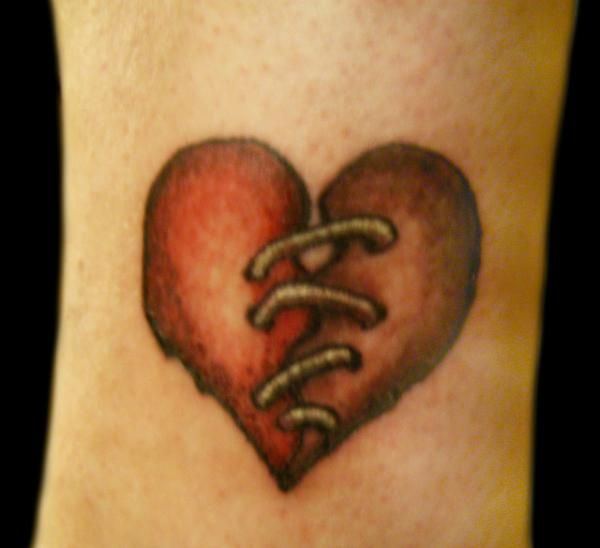 Broken heart tattoo on pinterest broken heart pictures for Tattoos of hearts