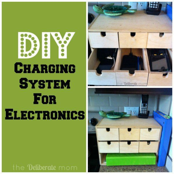 Peasy Diy Electronics Charging Station, Electronic Charging Station Furniture