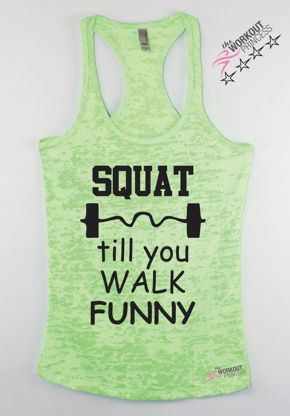 535247fb67 Squat Till You Walk Funny Womens Workout tank Lifting tank Bootcamp tank gym  shirt Gym clothing Fit