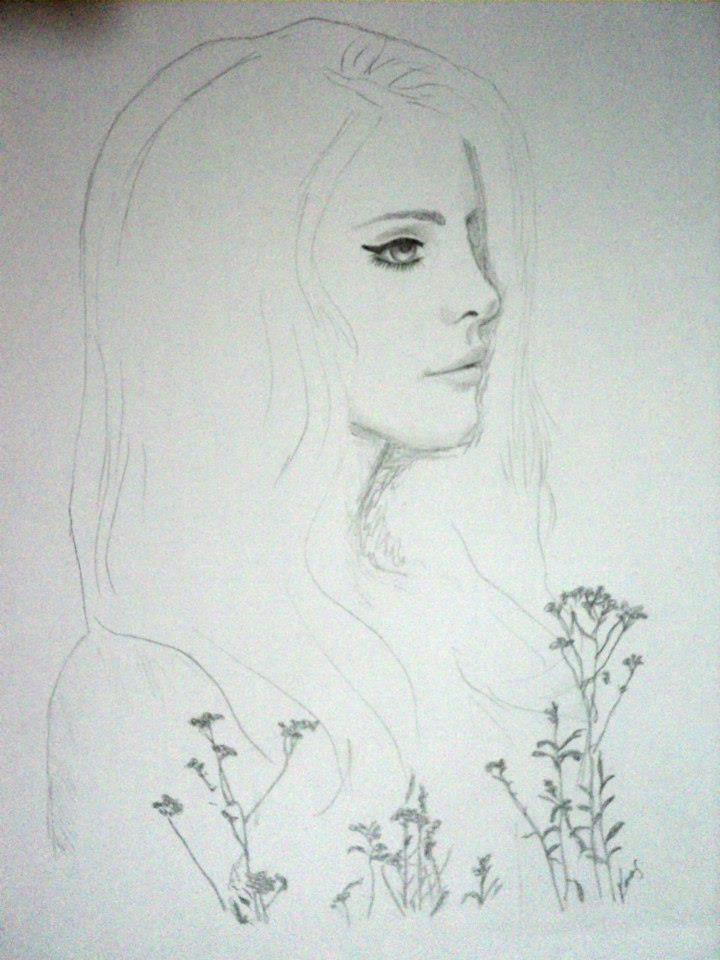 Lana del rey pencil graphite drawing https www facebook com