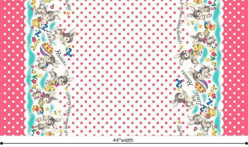 Dear little world quilts fabric animals blue bird