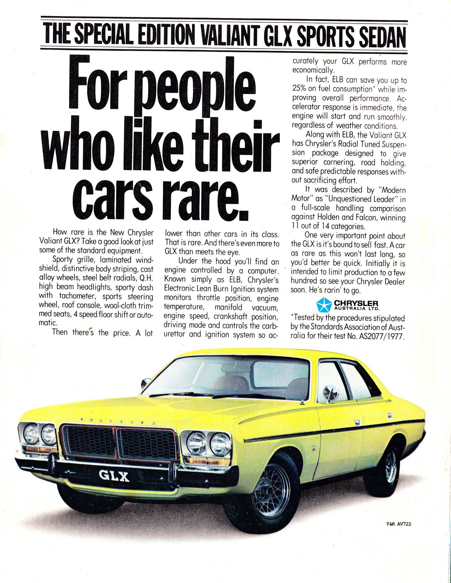 1979 CM Chrysler Valiant GLX Sedan Aussie Original Magazine ...