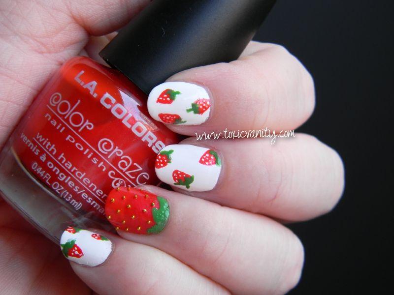 strawberries , Toxic Vanity #nail #nails #nailart