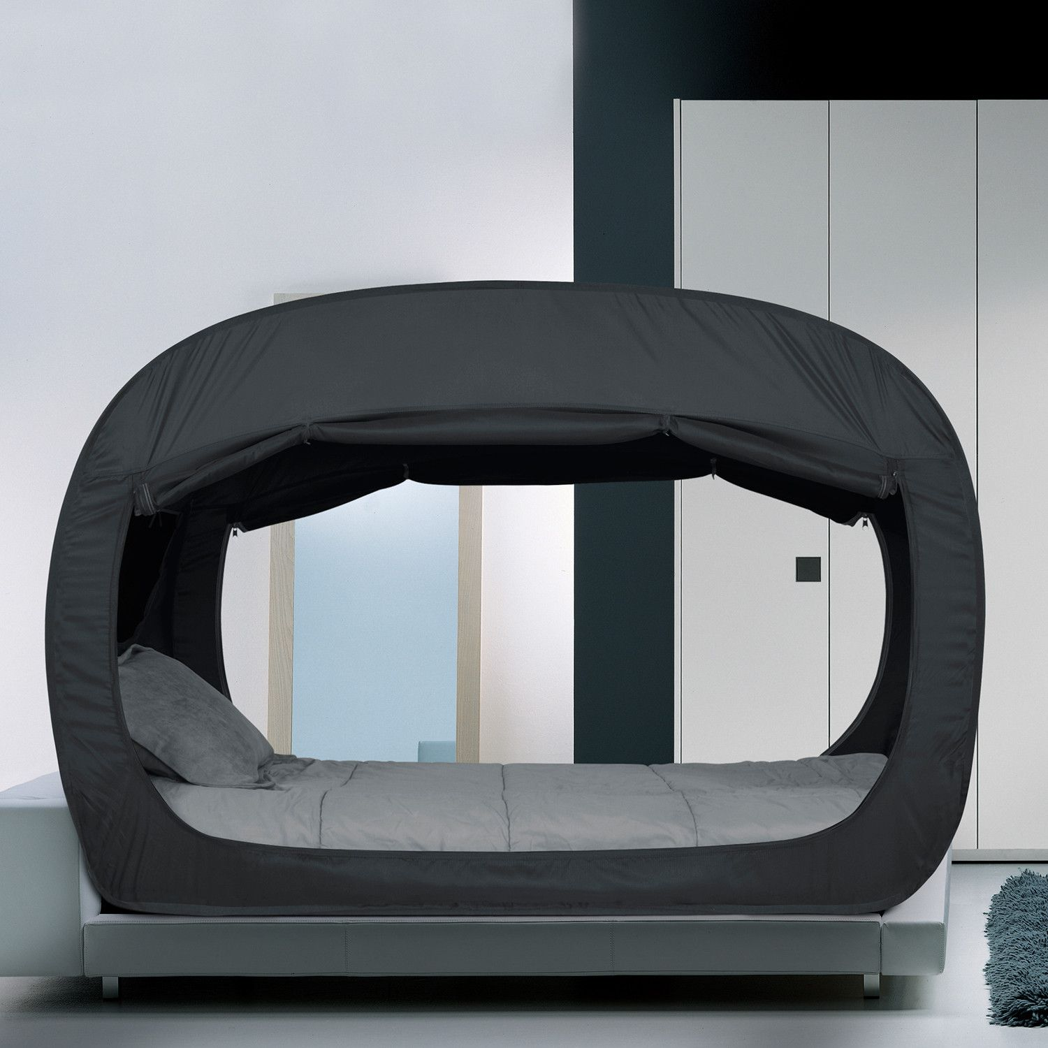 Privacy Pop // Bed Tent (Twin) Bed tent, Tent over bed