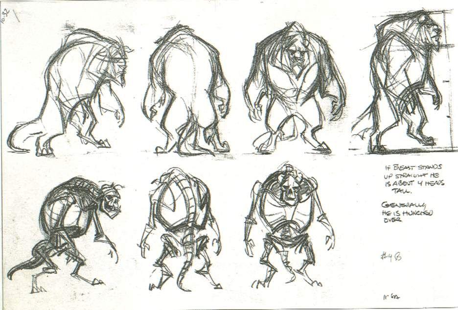Disney Character Design Artists : The art of glen keane beast character designer majeur