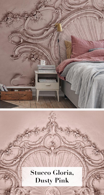 Stucco Gloria Dusty Pink Tapete Wohnzimmer Schlafzimmer Tapete Moderne Tapeten
