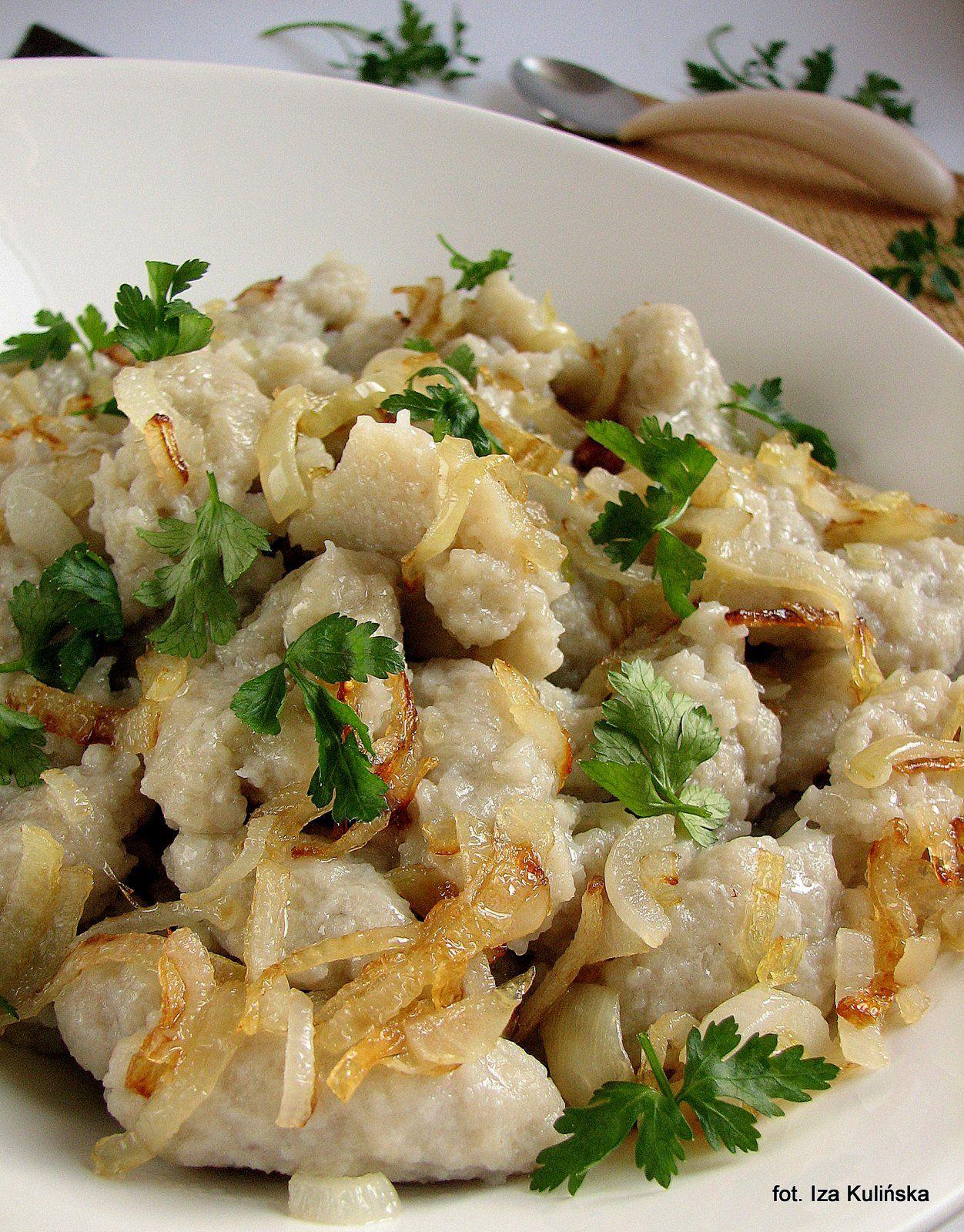Szare Kluski Kluski Ziemniaczane Mniam Mniam Food Polish