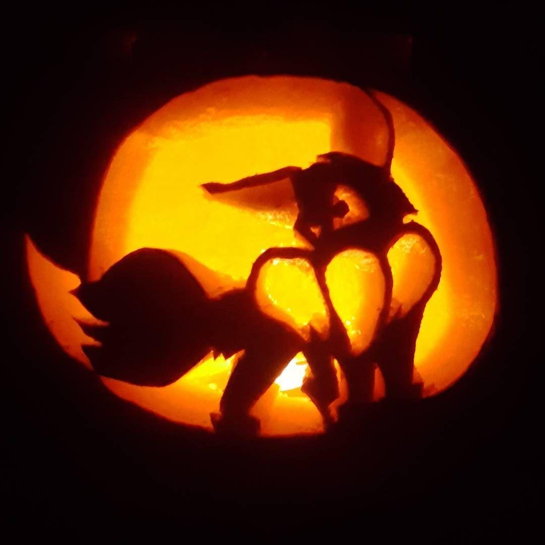 Cute Eevee from Pokemon Pumpkin Carving | Halloween | Pinterest ...